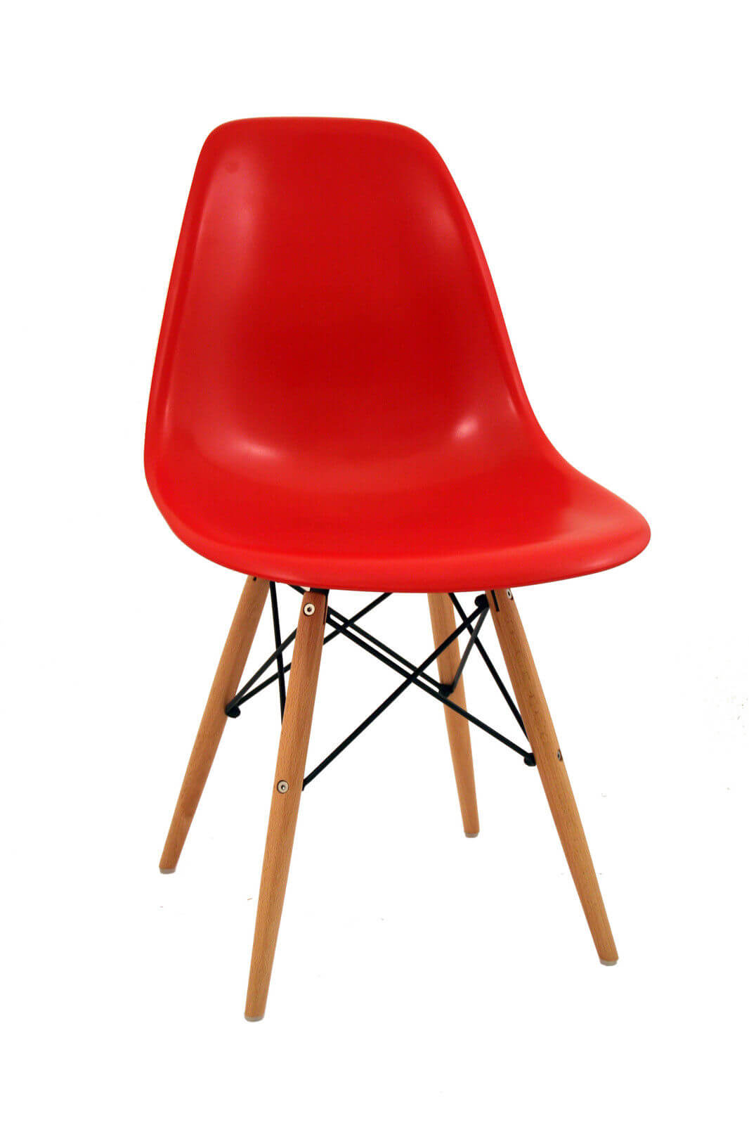 Silla eames tower madera silla ya for Sedie rosse moderne